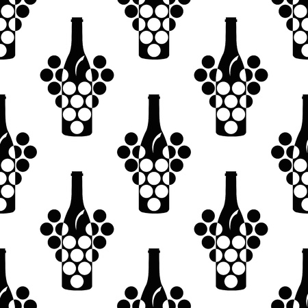 wine vineyards: seamless pattern with  elegance wine symbol
