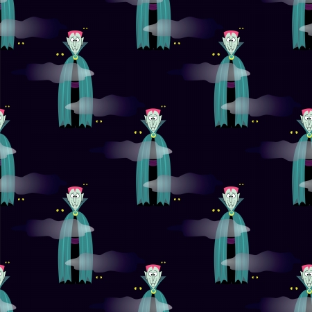 seamless pattern with  Vampire  background