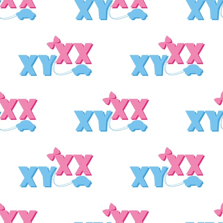 seamless pattern of ultrasound with xx and xy Vector