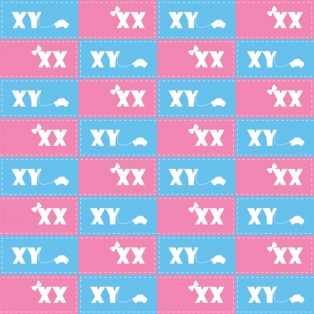 seamless pattern with symbol girl or boy Vector