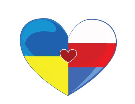 Symbols friendship between Russia and Ukraine Vector