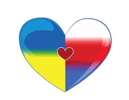 Symbols friendship between Russia and Ukraine Vector