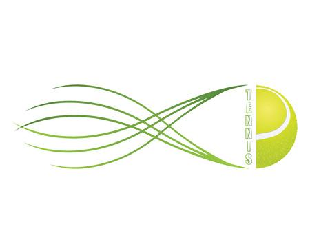 tennis racket: Tennis emblem and symbols isolated on white background.
