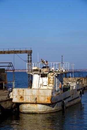 rusty: rusty boat Stock Photo