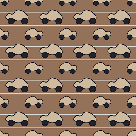 fabrick: seamless pattern with cars