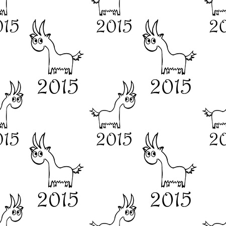 fabrick: seamless pattern with  goat