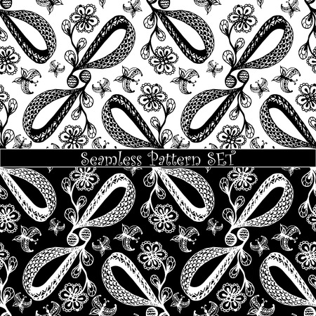 fabrick: set of seamless pattern
