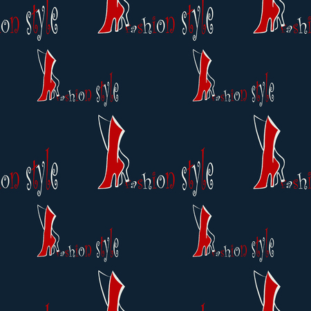 red boots: fashion seamless pattern backgrounds with abstract  red boots