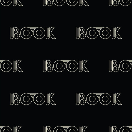 september 1: black seamless pattern with symbol of the book. vector