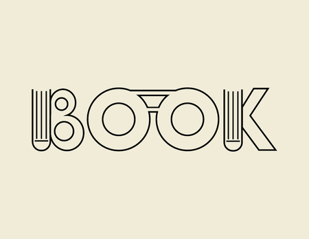 september 1: sing or symbol of the book. vector