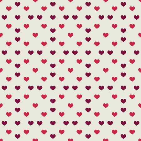Beige nahtlose Muster mit vielen roten Herzen