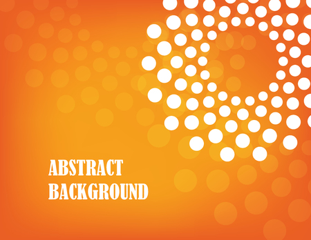 styled: orange abstract background with yellow and white circle. Illustration