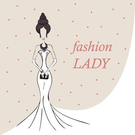 mujer o una niña en un fondo blanco de la manera de vestir.