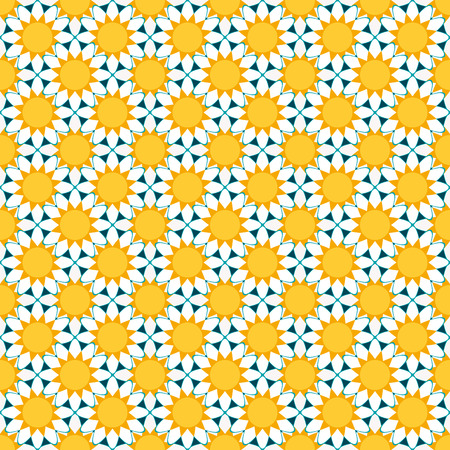 chamomile: seamless pattern with abstract white chamomile flowers. vector