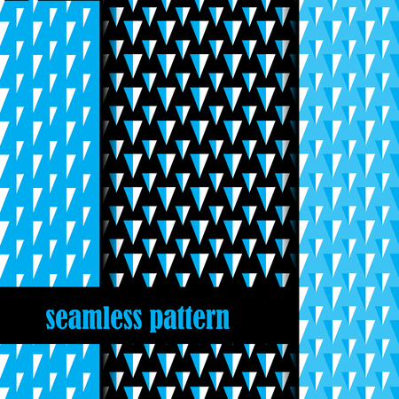 Set of seamless pattern with triangle.