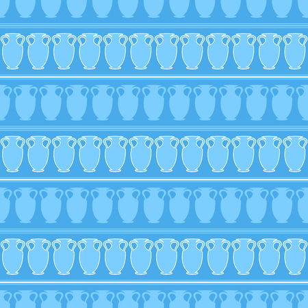 seamless pattern with amphora. vector Illustration