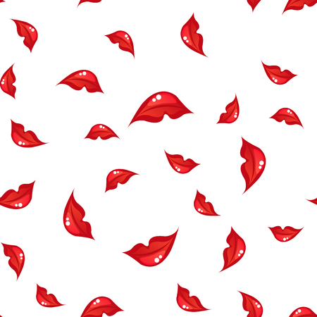 seamless pattern with lips. vector Illustration