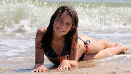 6288696b9cccd Teen Swimsuit Stock Photos And Images - 123RF
