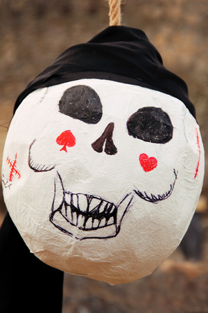 skull for pirate party or Halloween. photo Stock Photo