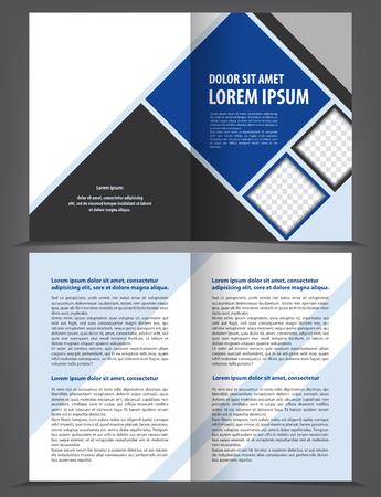 Vecteur vide bi-fold brochure impression modèle de conception Banque d'images - 45828721