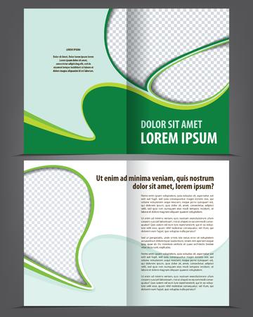 stern: Vector empty bi-fold brochure print template design