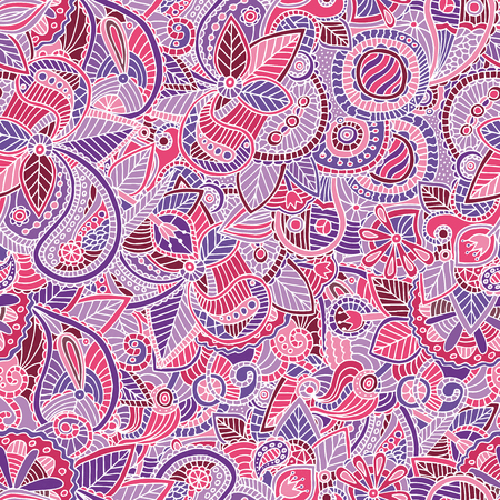 ethnical: Vector seamless bright ethnic endless pattern, floral ethnical ornament, fashion pattern for fabric