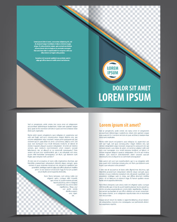 bifold: Vector empty bi-fold brochure print template design