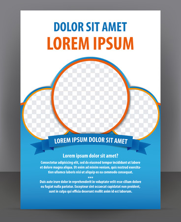 swirl background: Magazine, flyer, brochure and cover layout design template, vector Illustration