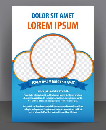 Revista, folleto, folleto y el diseño de cubierta plantilla de diseño, ilustración vectorial Foto de archivo - 45828754