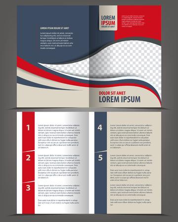 bifold: Vector empty bi-fold brochure print template design
