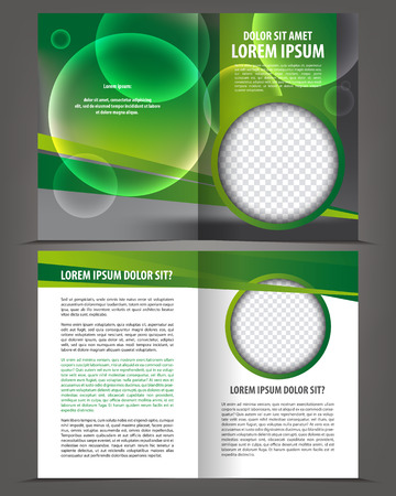 layout design template: Vector empty brochure print template green eco design