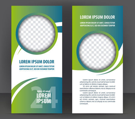 Vector business flayer or leaflet design, print template