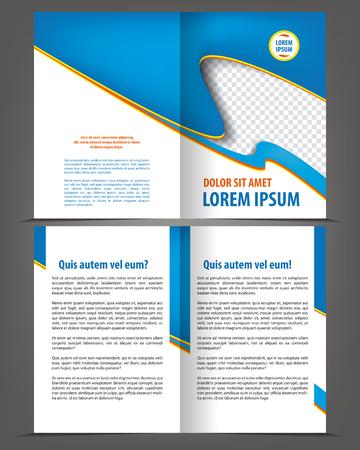 bifold: Vector empty bifold brochure design print template Illustration