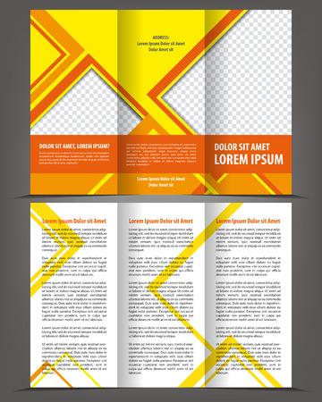threefold: Vector empty trifold brochure design print template design