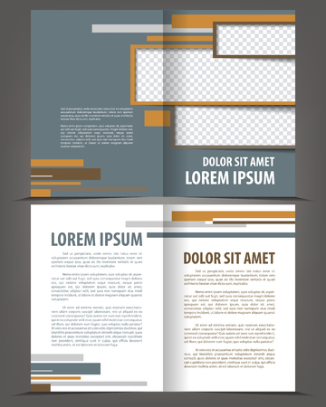bifold: Vector empty bi-fold brochure print template flat design