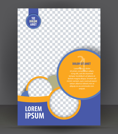Brochure, magazine, flyer, cover layout design print template, vector Illustration Çizim