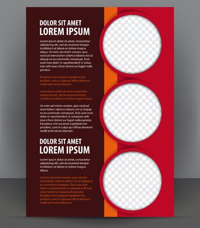 Magazine, dépliant, brochure et de la couverture mise en page modèle de conception rouge, vecteur Illustration Banque d'images - 46336450