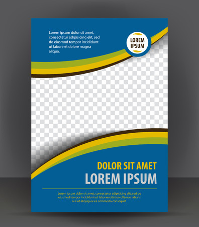 DESIGN: Magazine, flyer, brochure and cover layout design print template, vector booklet Illustration
