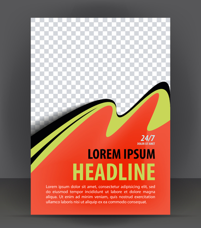 magazine template: Magazine, flyer, brochure and cover layout design print template, vector booklet Illustration