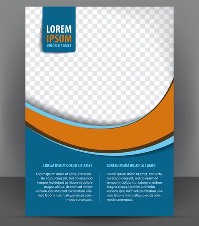 Magazine, dépliant, brochure, modèle d'impression de conception de mise en page de couverture, vecteur bleu Illustration Banque d'images - 46336603