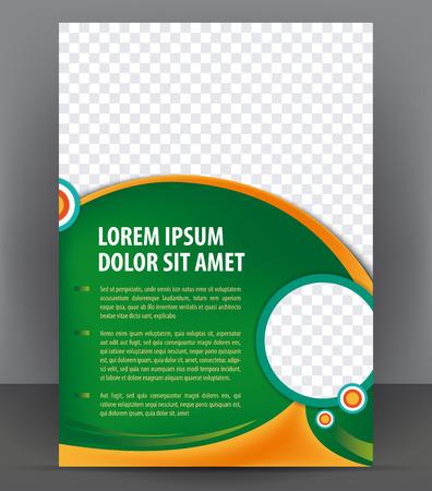 Magazine, dépliant, brochure et un modèle de conception de mise en page couverture, vecteur Illustration Banque d'images - 46336820