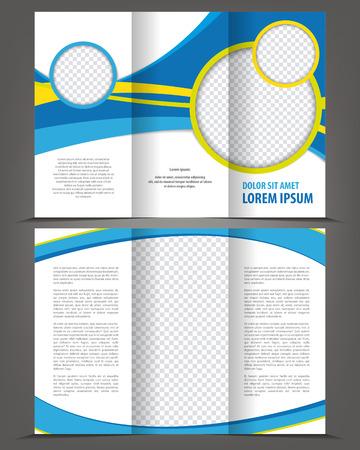 Vector empty trifold brochure print template design Vectores