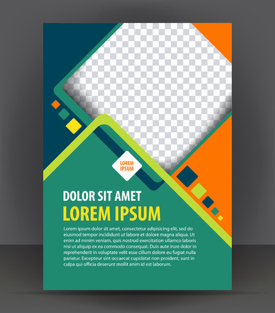 workpiece: Magazine, flyer, brochure, cover layout design print template, vector booklet Illustration