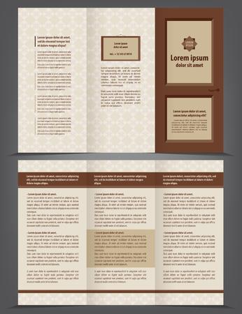threefold: Threefold door business brochure template Illustration