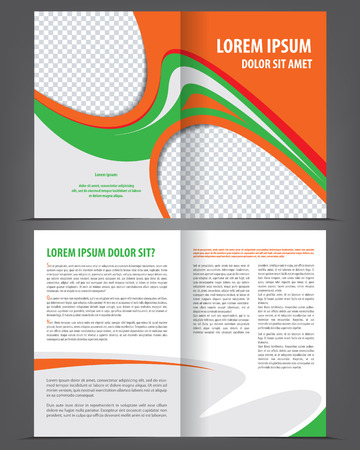 print template: Vector empty brochure print template design