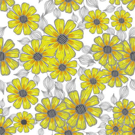 Vector seamless floral background Ilustracja