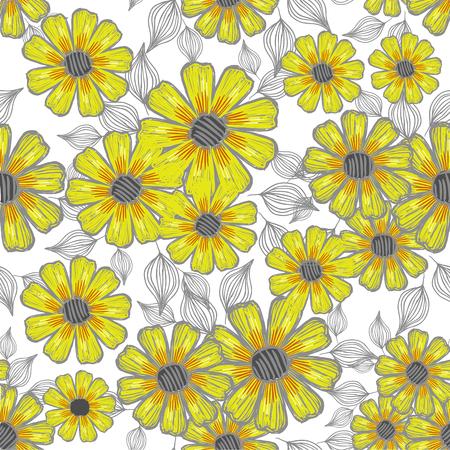 whorls: Vector seamless floral background Illustration