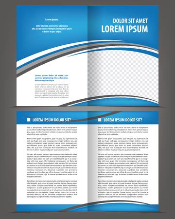Print design: Vector empty bi-fold brochure print template design