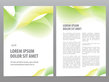 design template: Vector business brochure blank design, flyer or cover print template Illustration