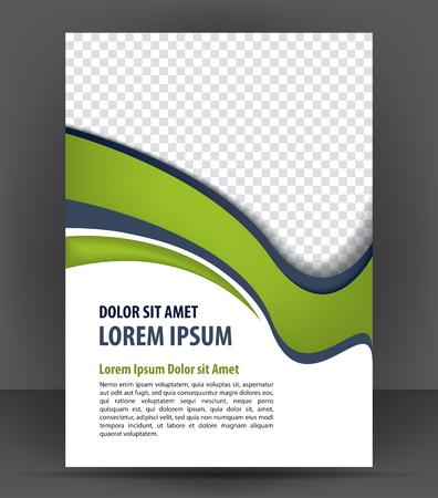 Magazine, flyer, brochure en dekking lay-out ontwerp sjabloon, vector Illustratie